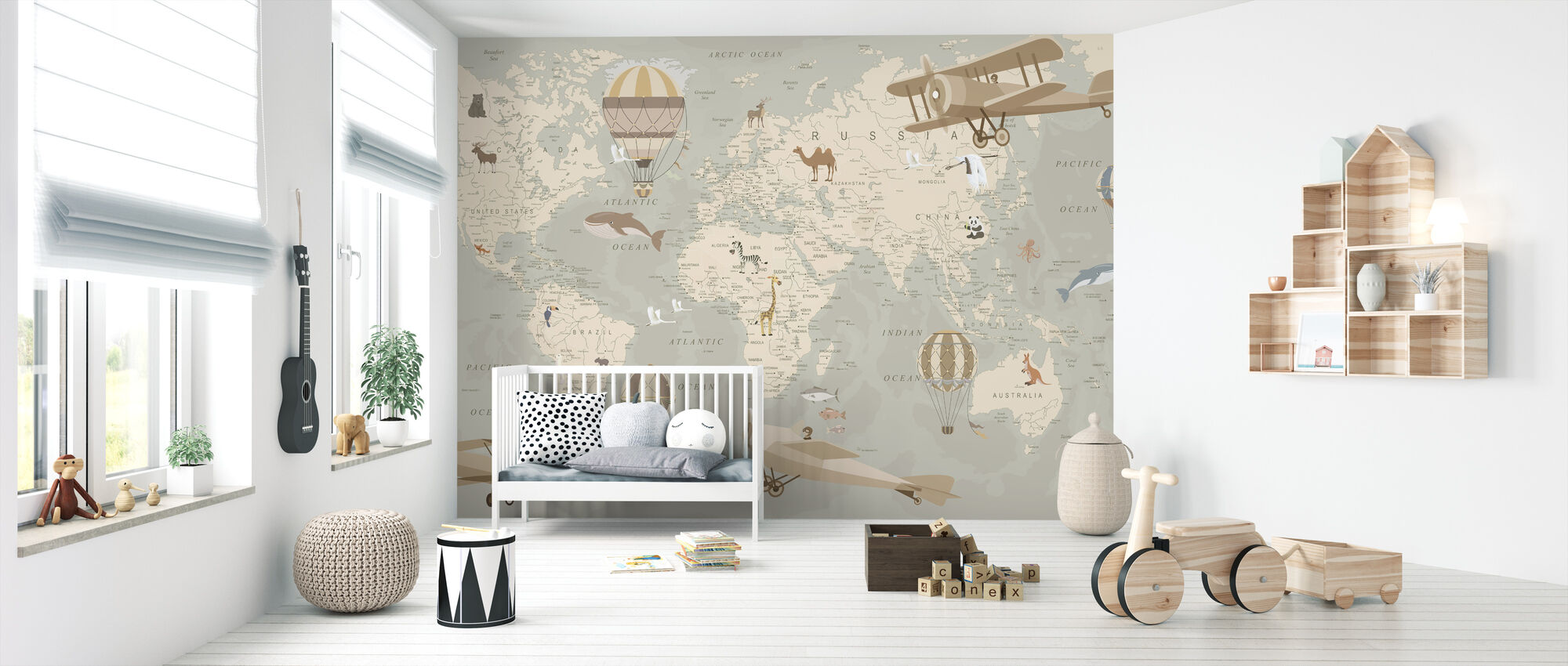 Explorer Map - Wallpaper - Nursery