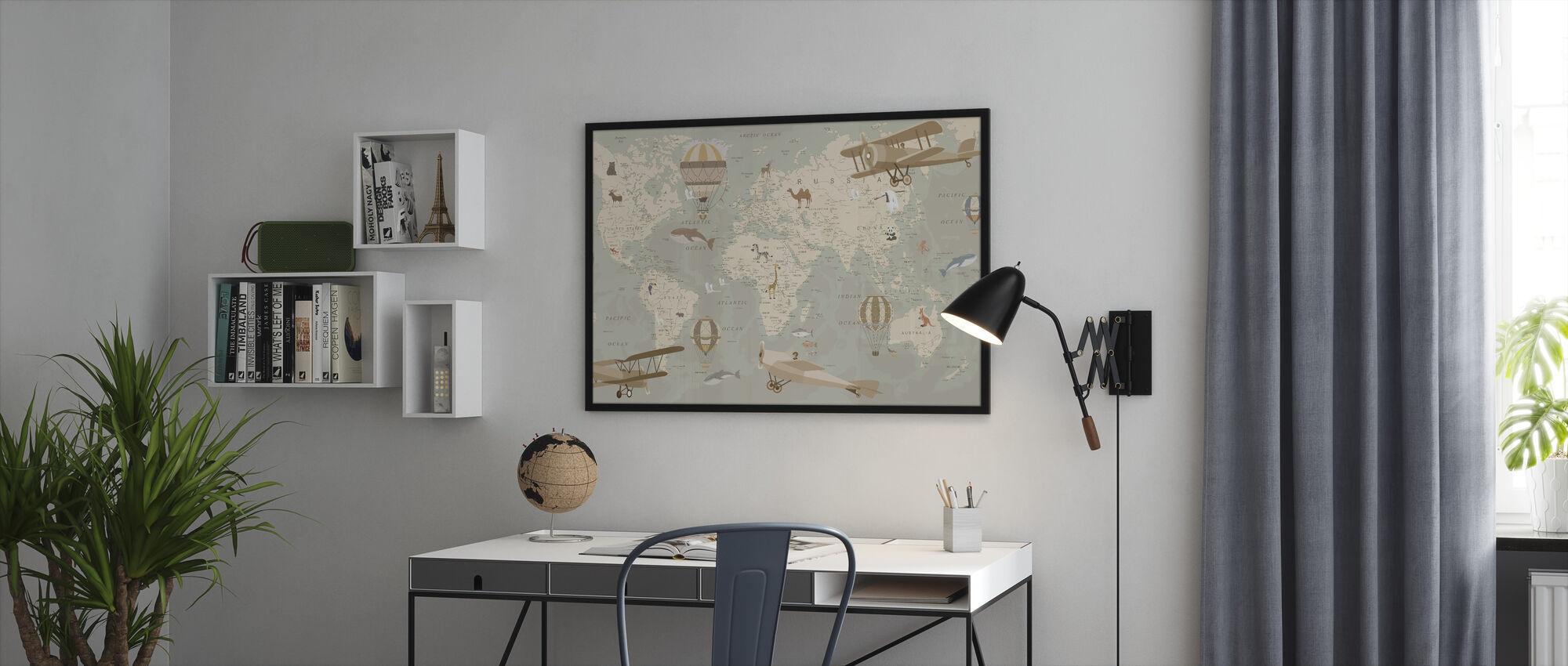Explorer Map - Framed print - Office