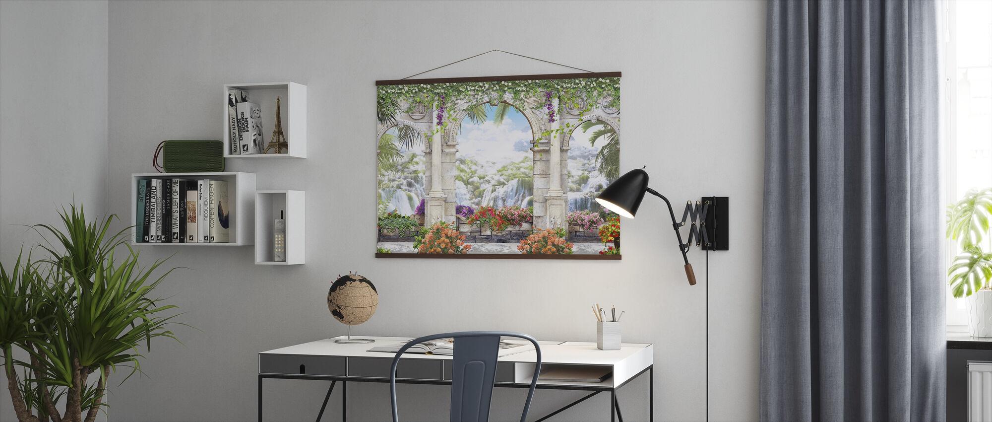 Romantic Waterfalls - Poster - Office