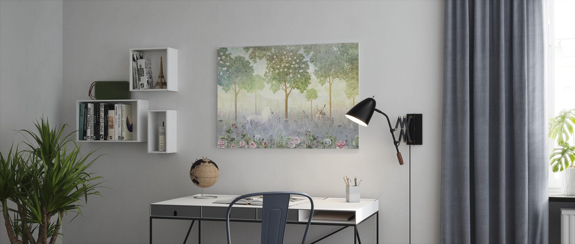 Hazy Meadow - Canvas print - Office