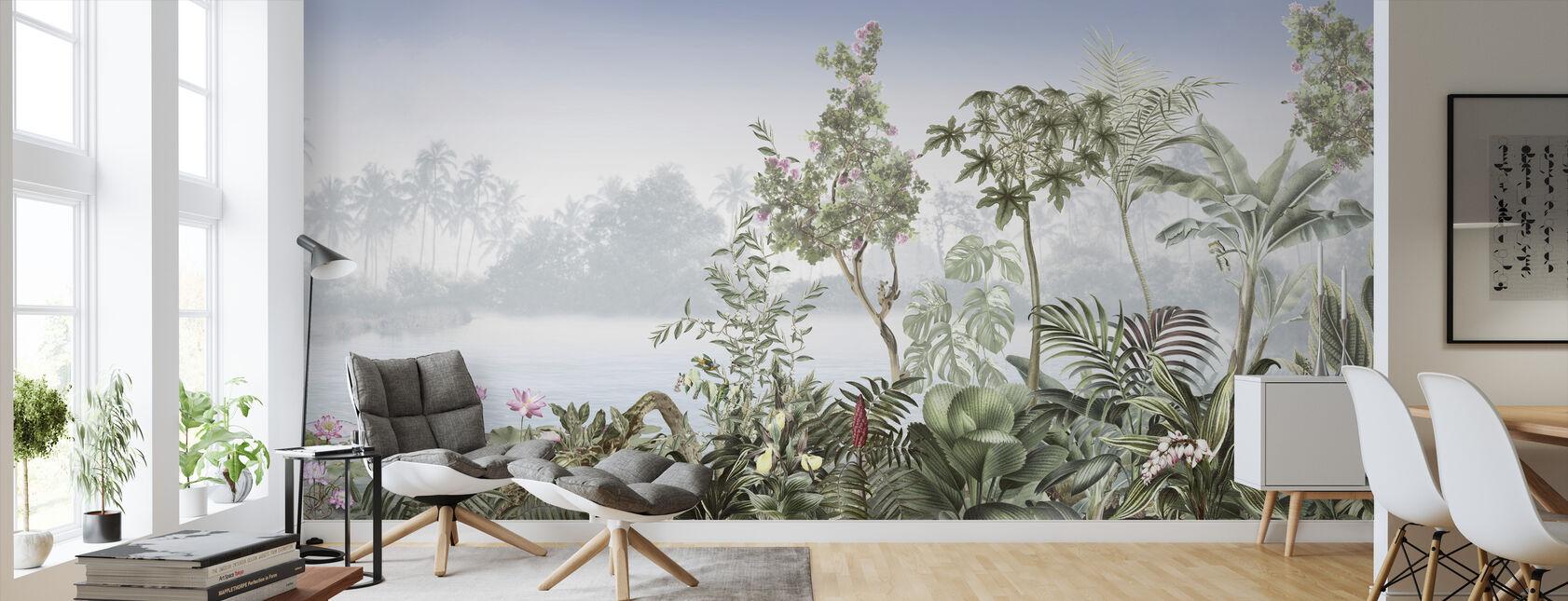 Tropikalne drzewa - Tapeta - Pokój dzienny