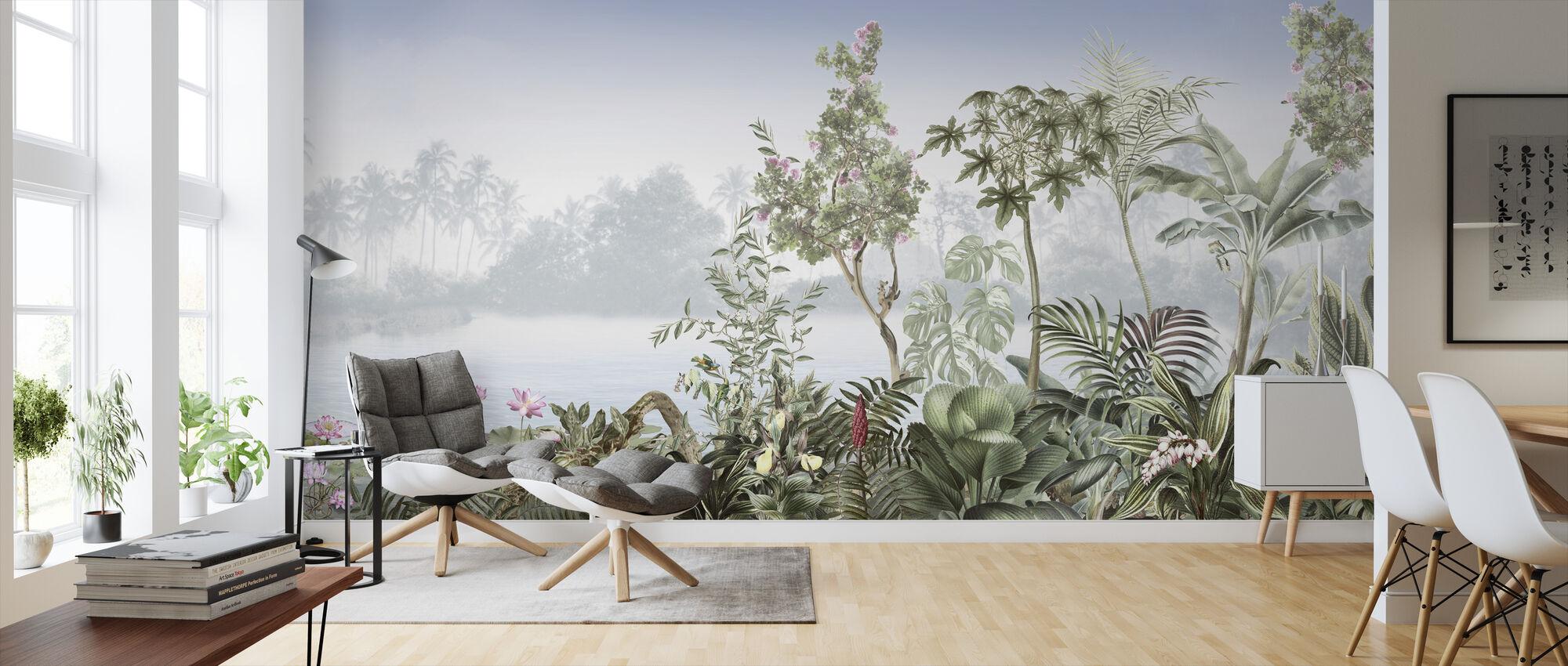 Tropiska träd - Tapet - Vardagsrum