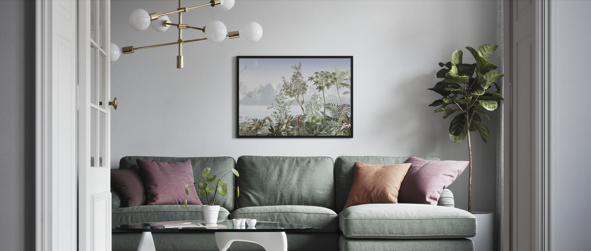 Tropical Trees - Framed print - Living Room