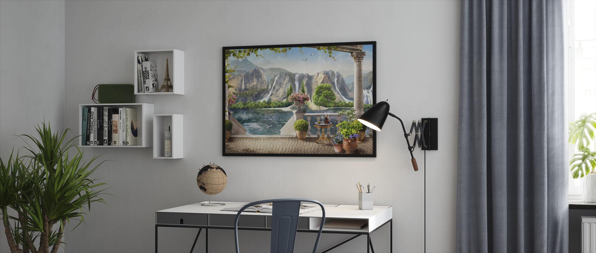 Fjell hage - Innrammet bilde - Kontor