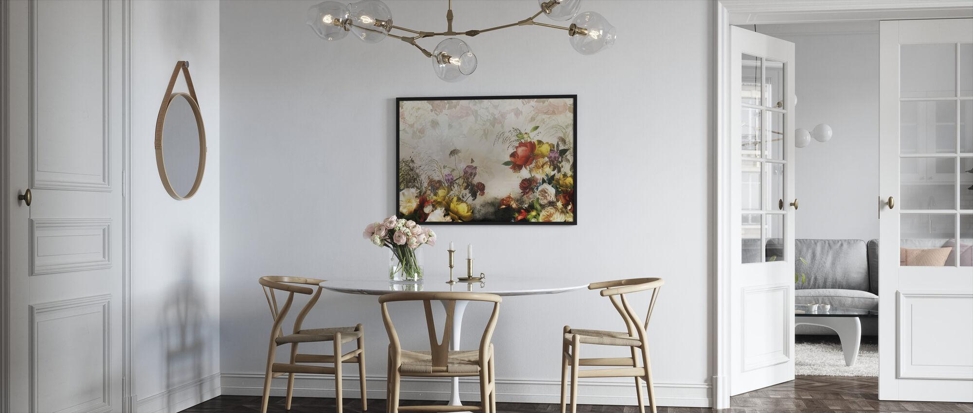 Romantiska blommor - Inramad tavla - Kök