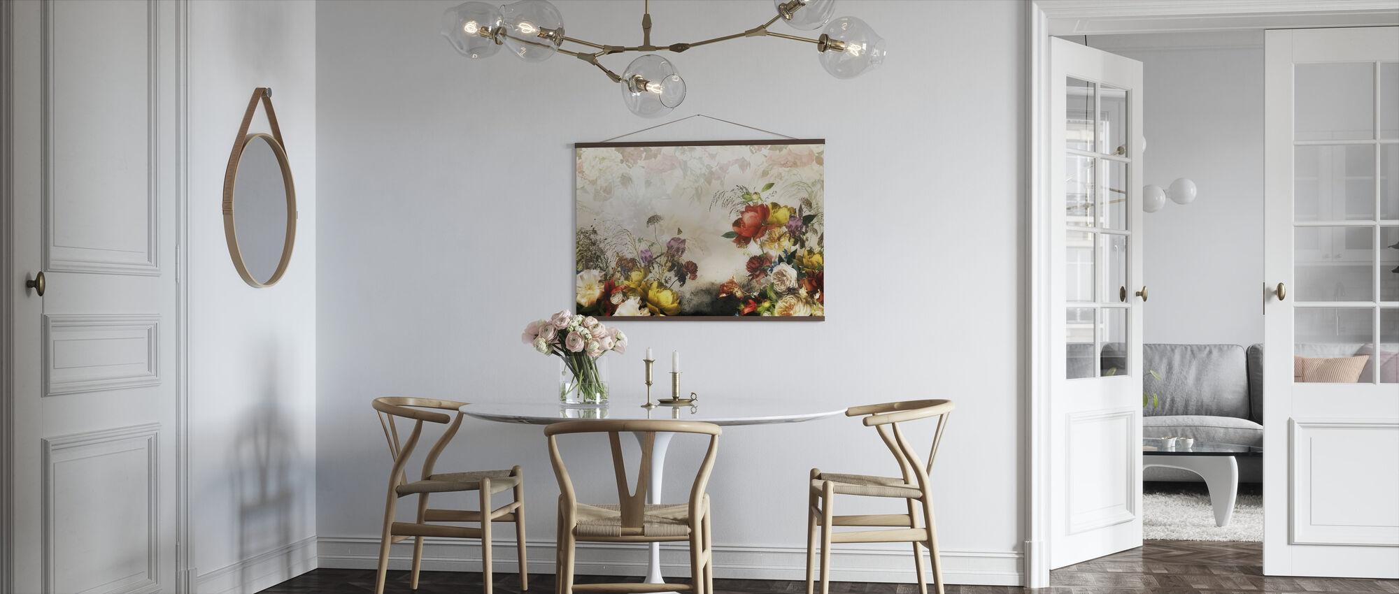 Romantiska blommor - Poster - Kök