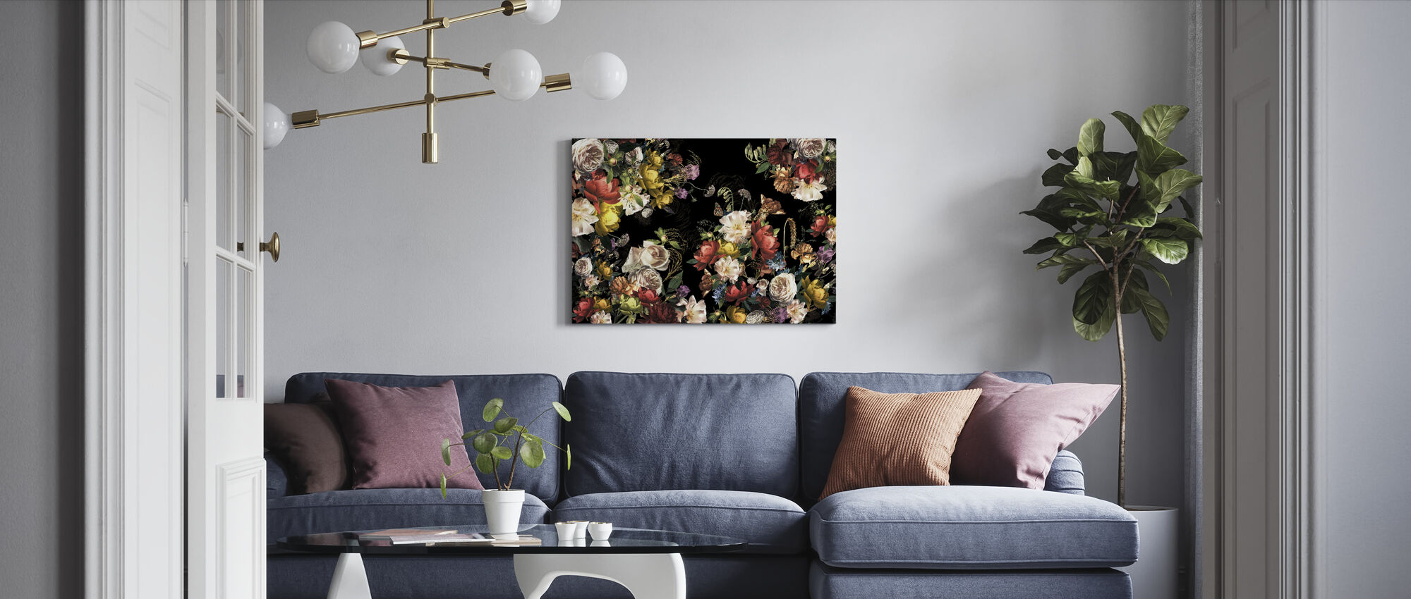 Colorful Flowers - Canvas print - Living Room