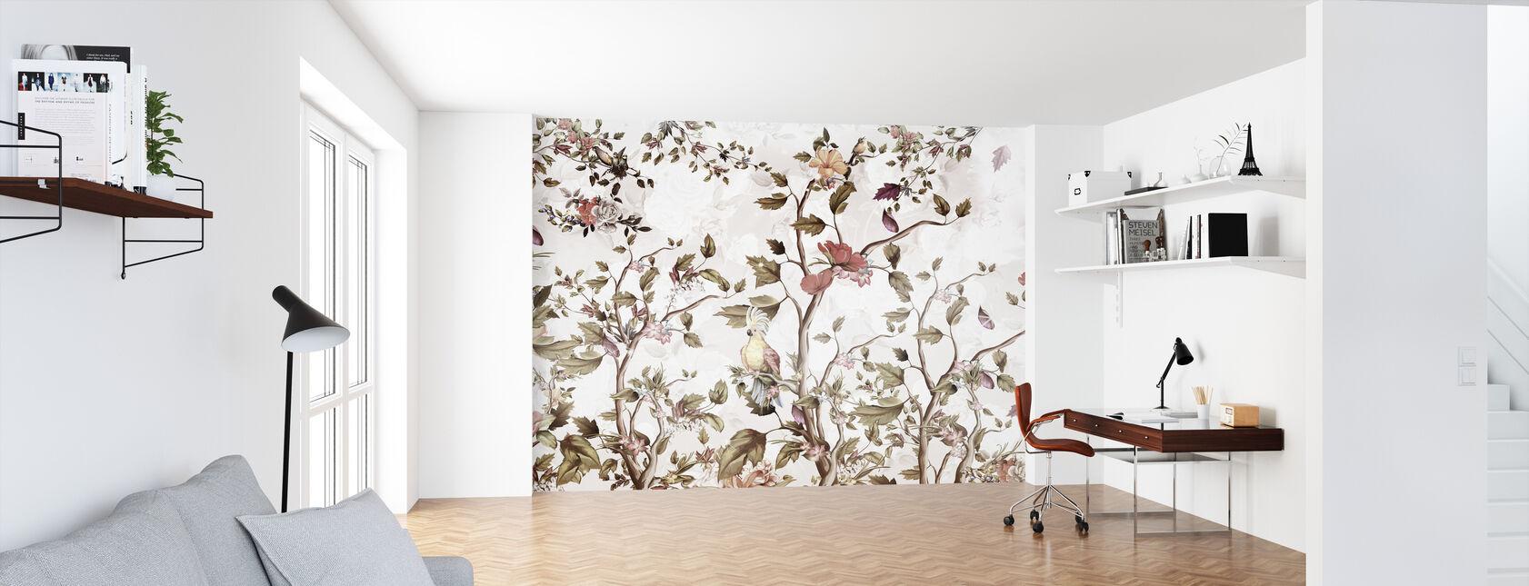Parrot in Blossom - Wallpaper - Office