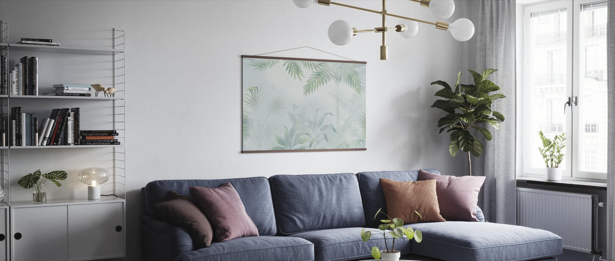 Foggy Jungle - Leafy - Poster - Living Room
