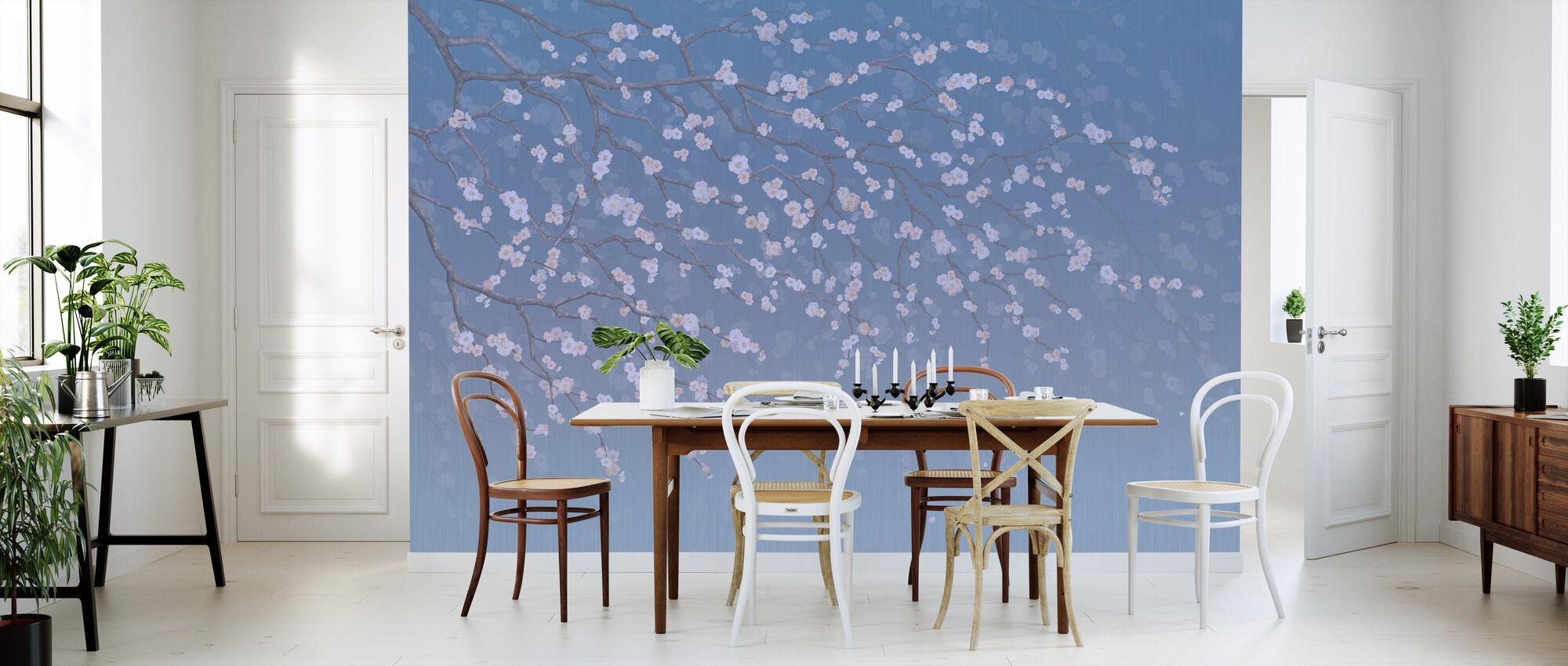 Sakura - Cobalt - Wallpaper - Kitchen