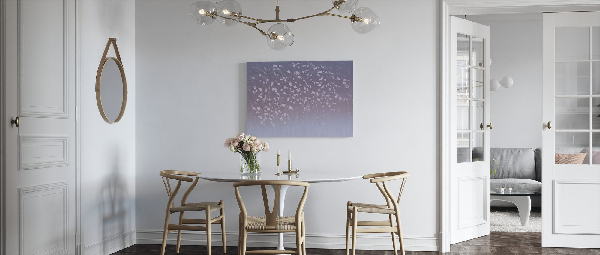 Sakura - Purplish - Canvas print - Kitchen