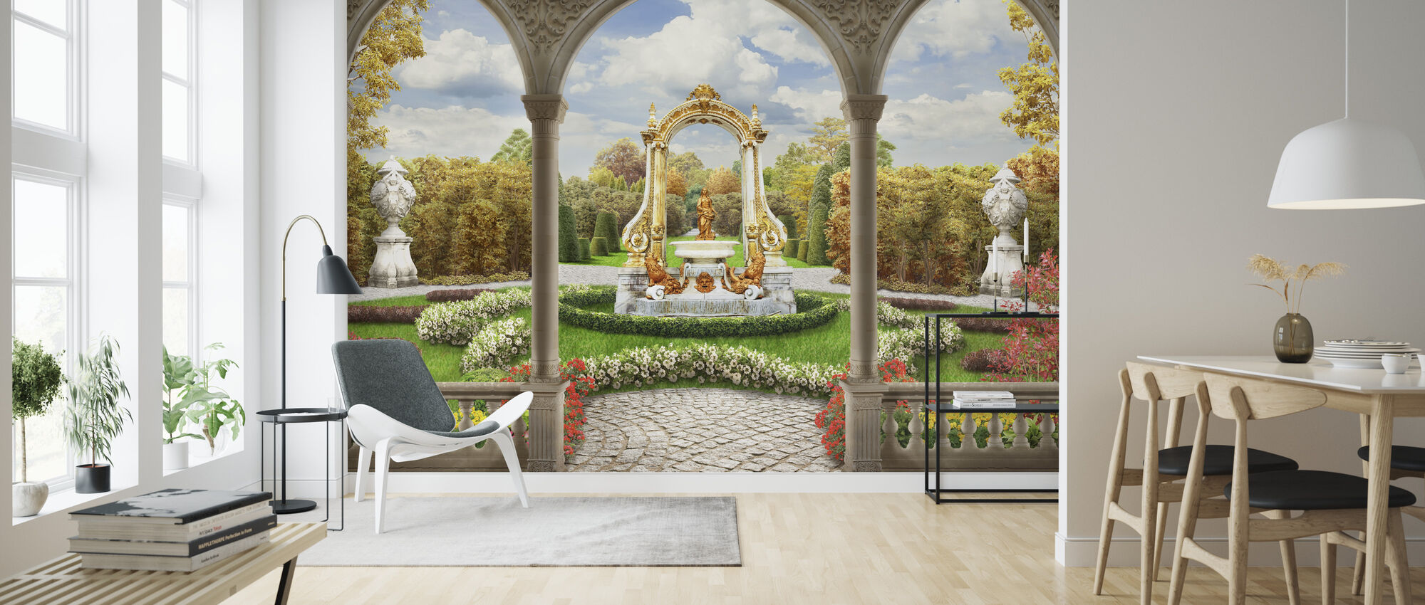 Schonbrunn Garden - Wallpaper - Living Room