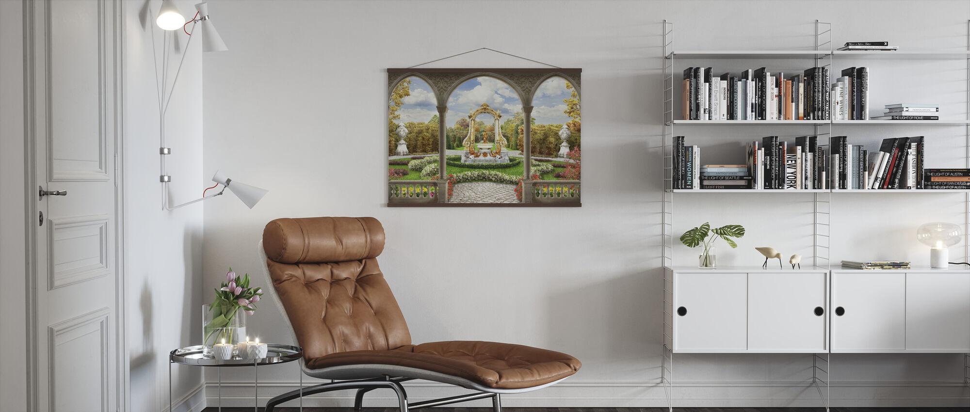 Schonbrunn Garden - Poster - Living Room