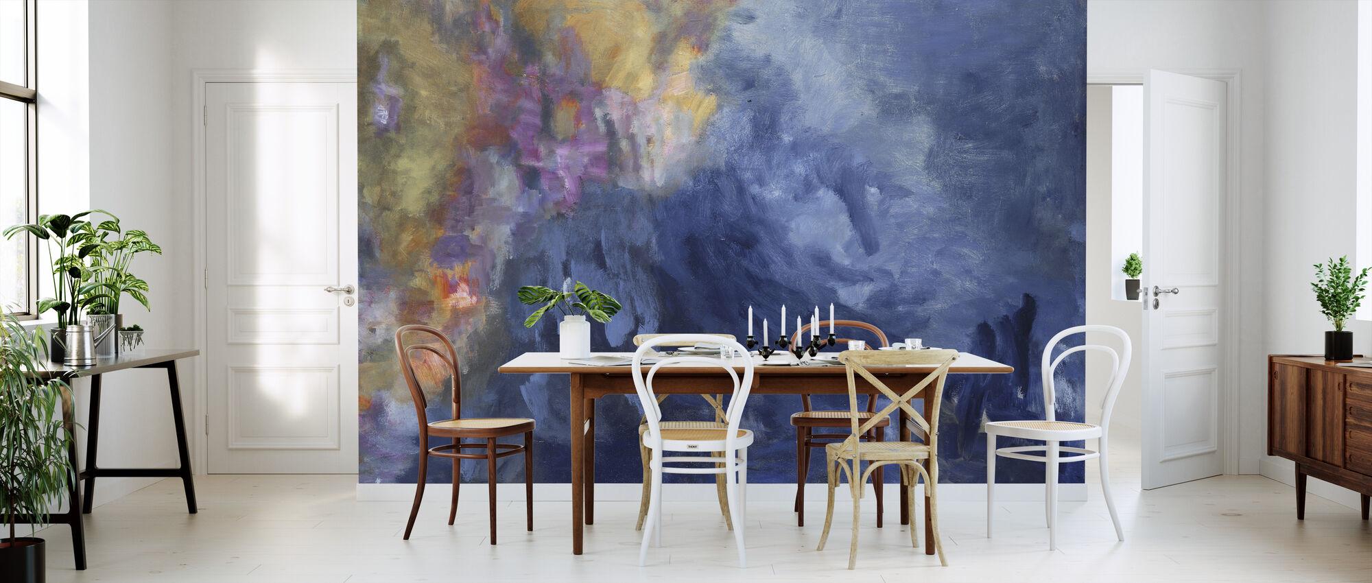 Rhapsodie in Blau - Ashton Hinrichs - Tapete - Küchen