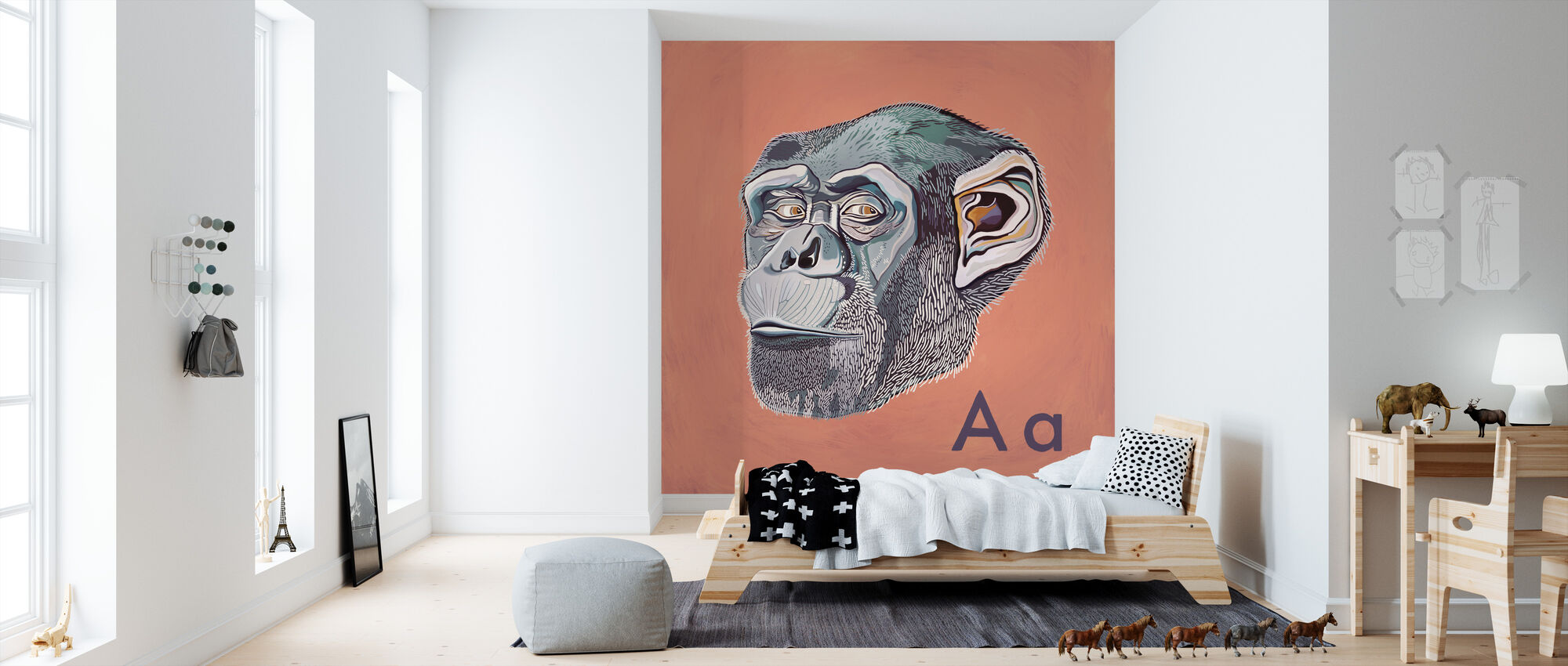 Ape with A - Wallpaper - Kids Room