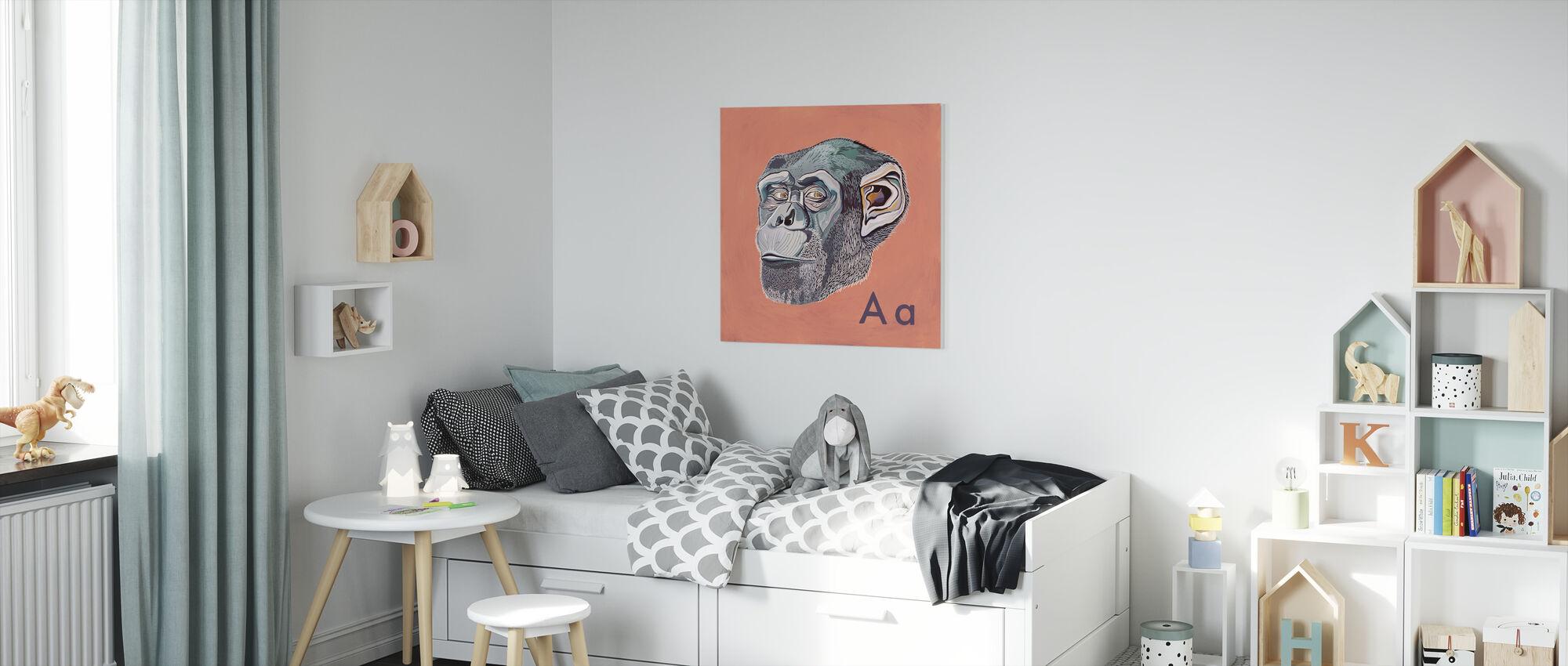 Ape with A - Canvas print - Kids Room