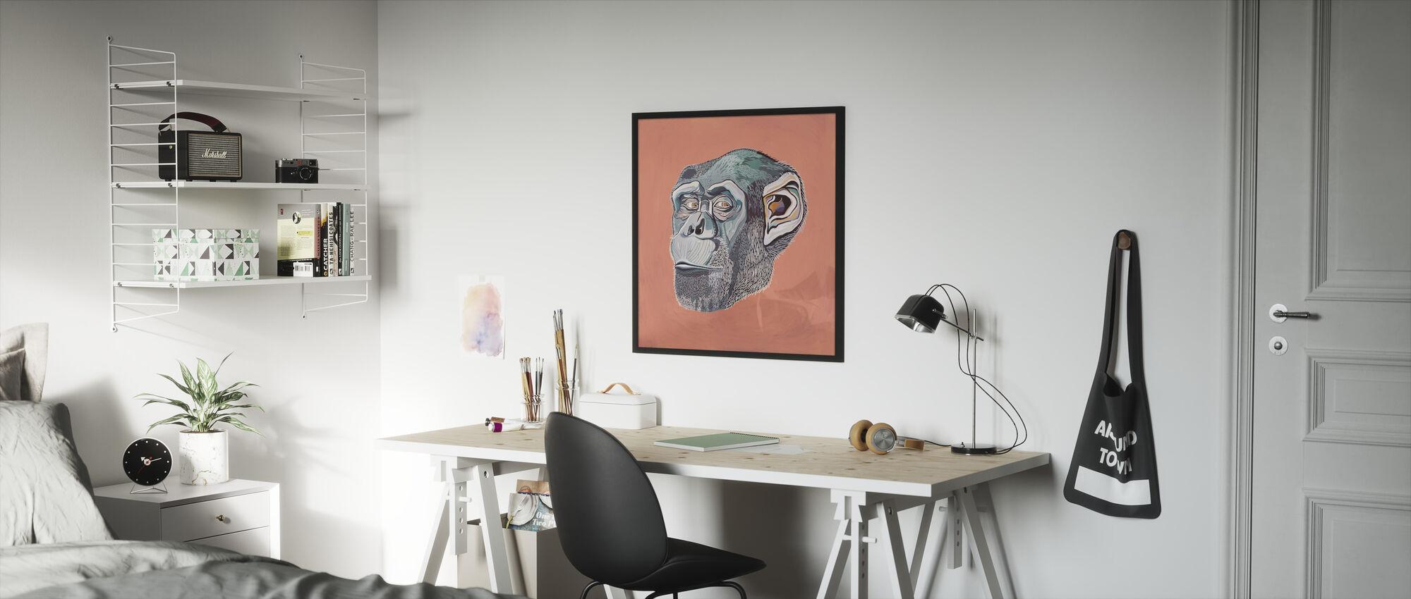 Ape - Framed print - Kids Room