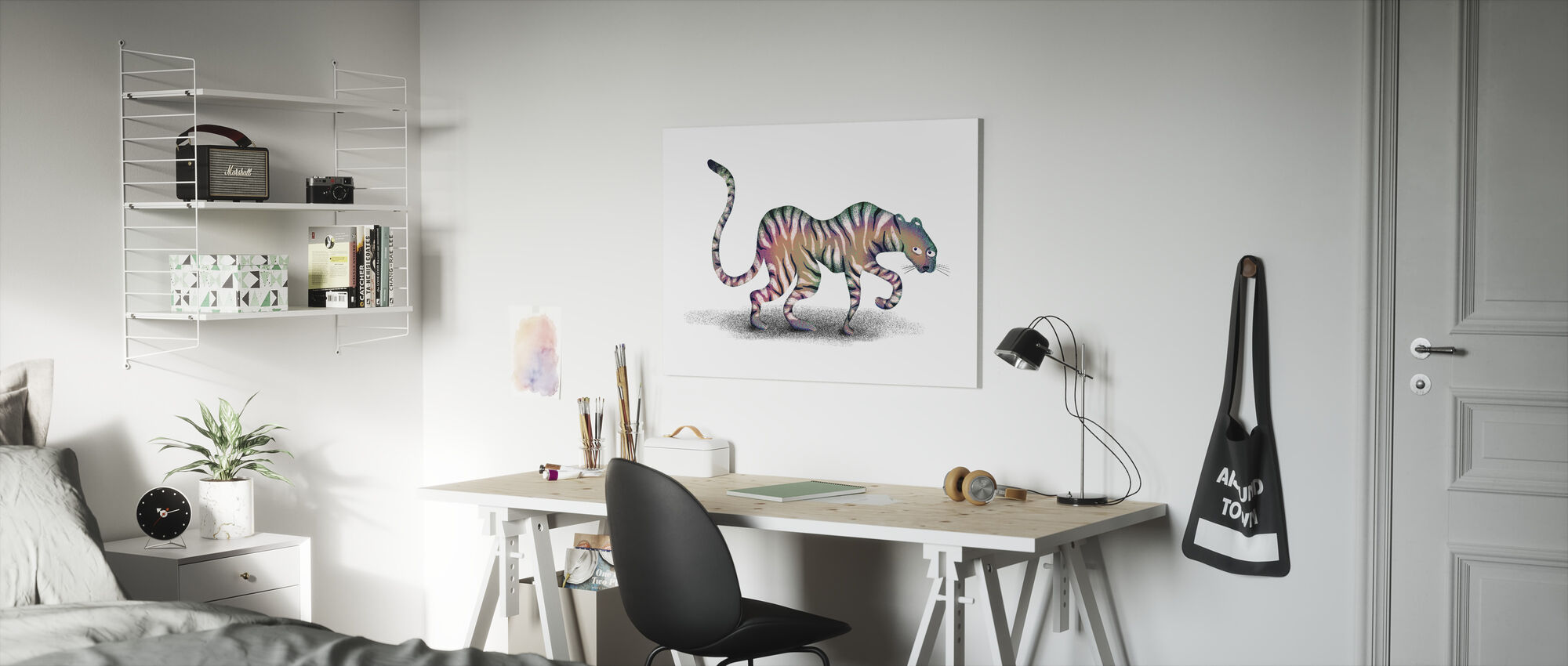 Super Mystic Jungle Animal - Canvas print - Kids Room