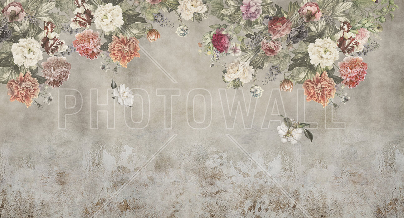 Vintage Flower Wall High Quality Wall Murals With Free Us Delivery Photowall