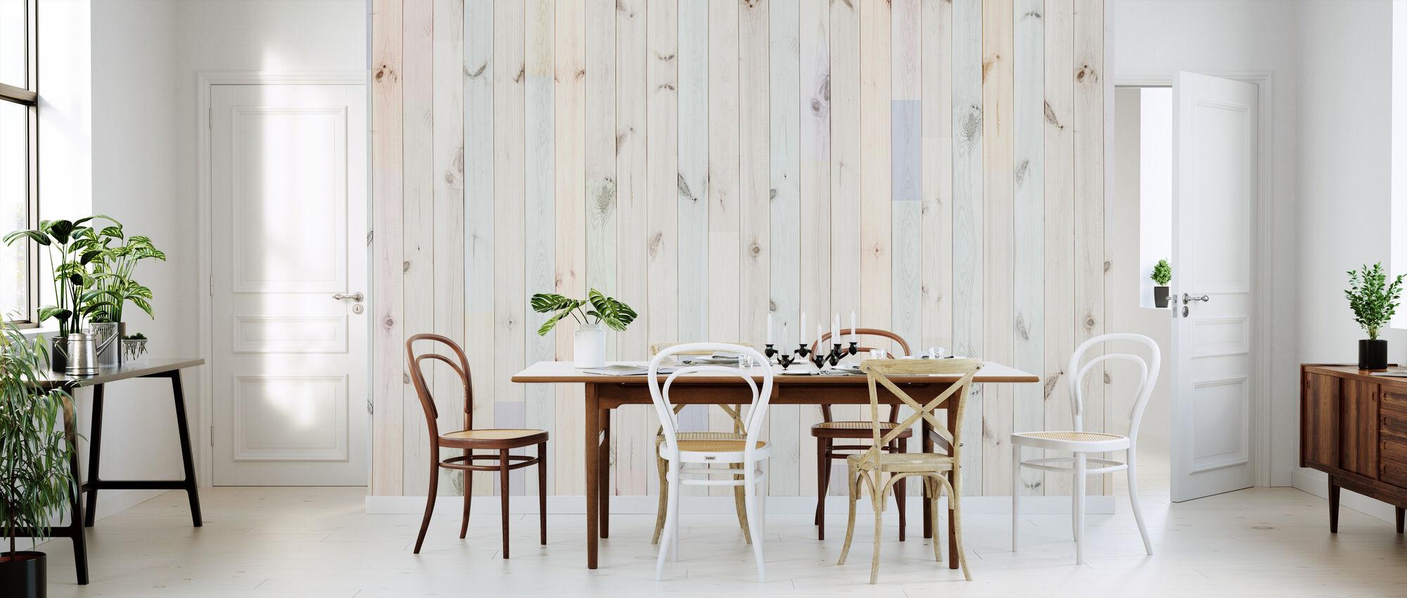 Multihued Plank - Wallpaper - Kitchen