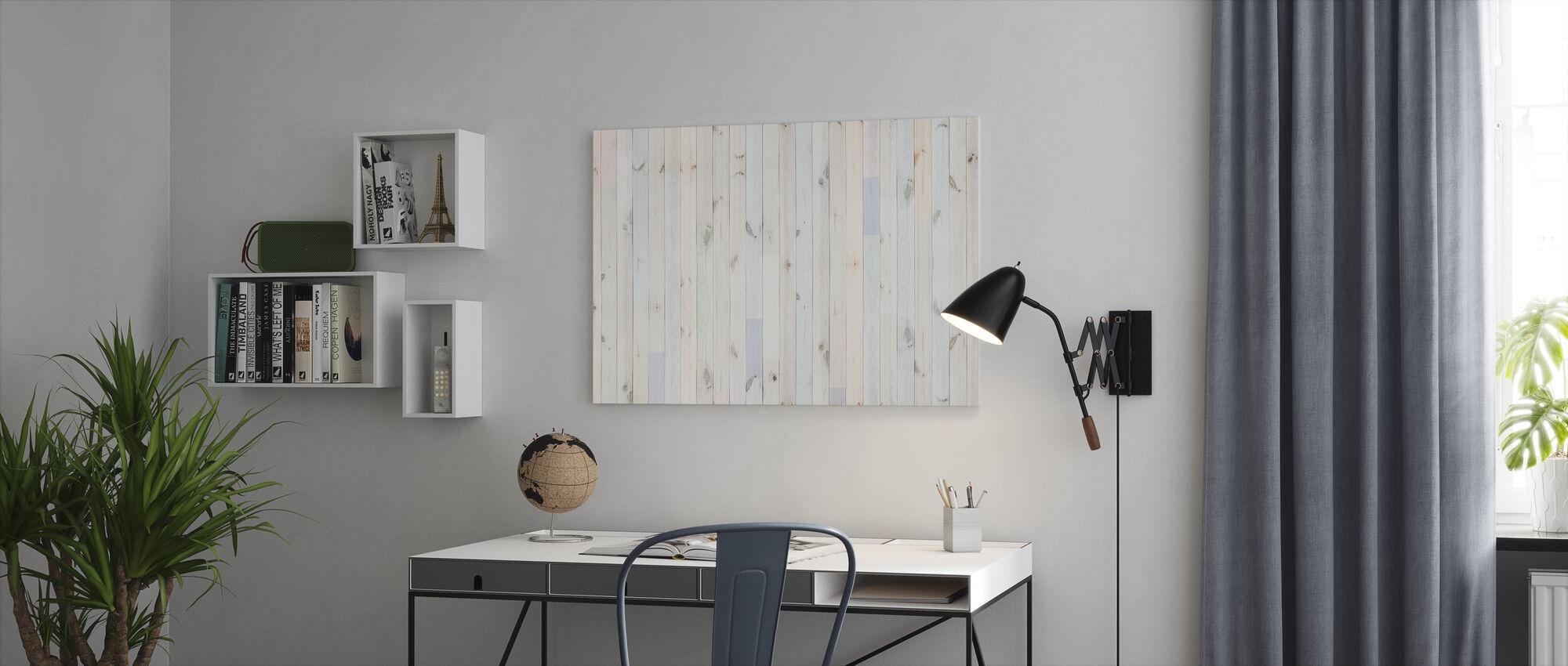 Multihued Plank - Canvas print - Office