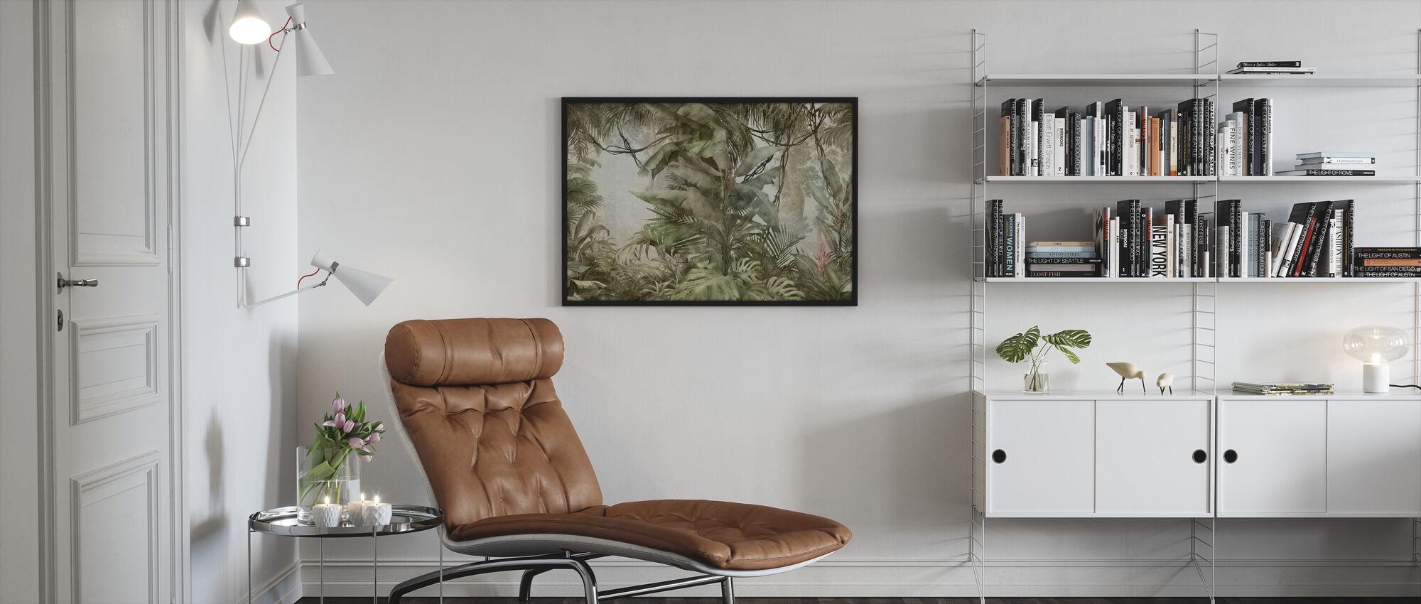Syvä trooppinen - Kehystetty kuva - Olohuone