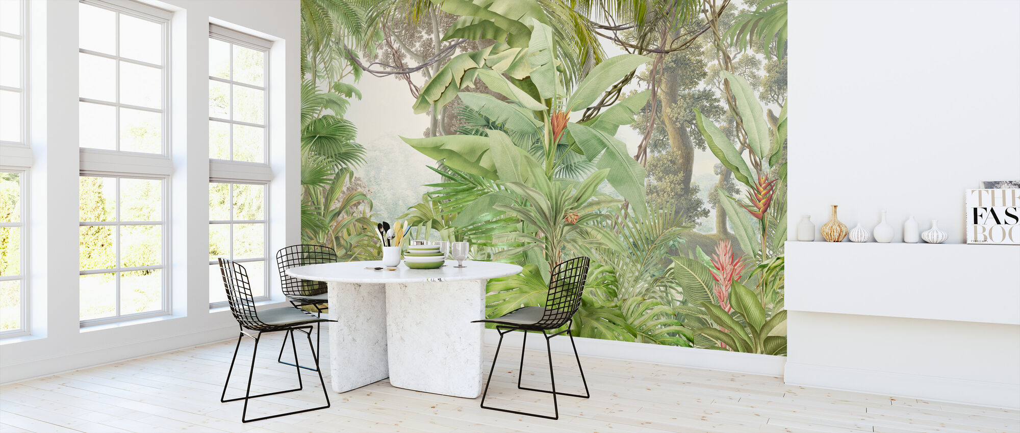 Deep Tropical - Leafy - Wallpaper - Kitchen