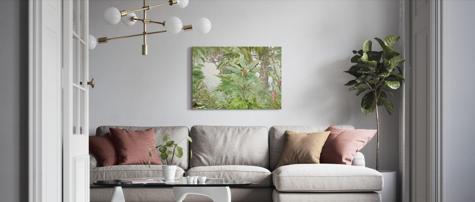 Dyp Tropisk - Grønne - Lerretsbilde - Stue