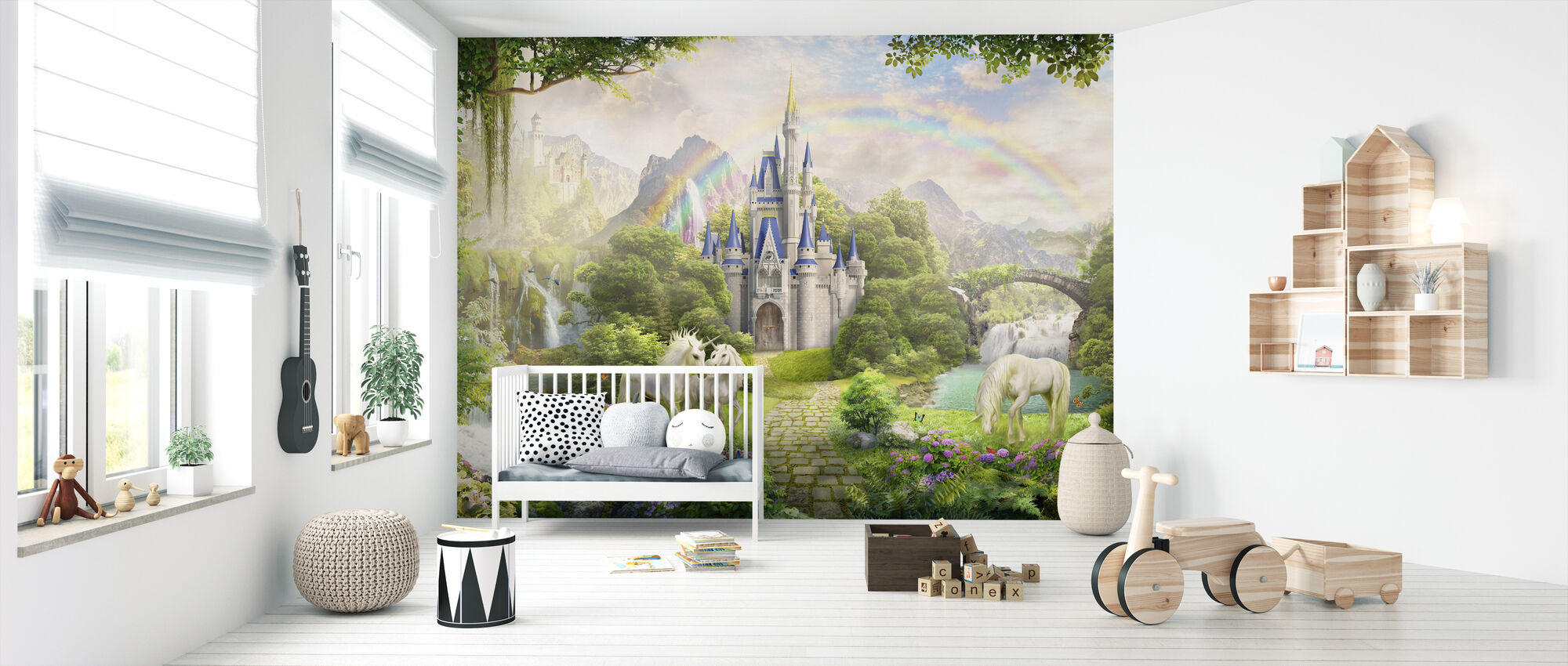 Unicorns Residence - Wallpaper - Nursery