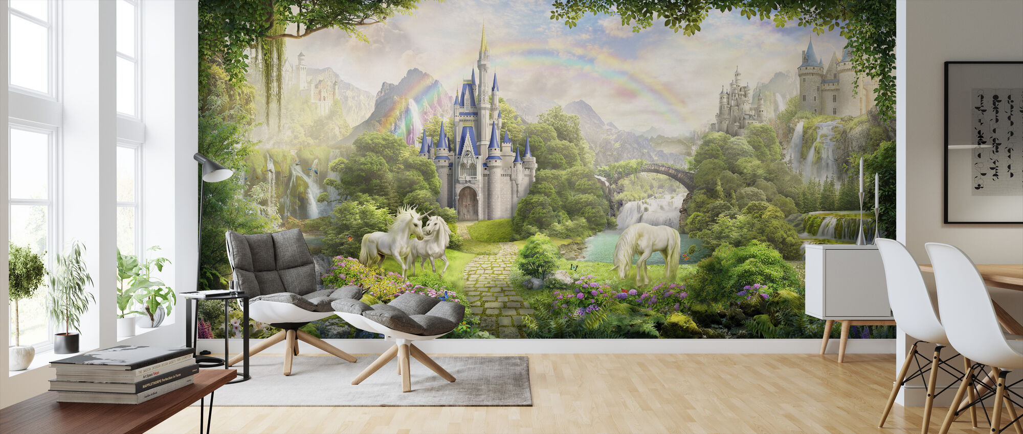 Unicorns Residence - Wallpaper - Living Room
