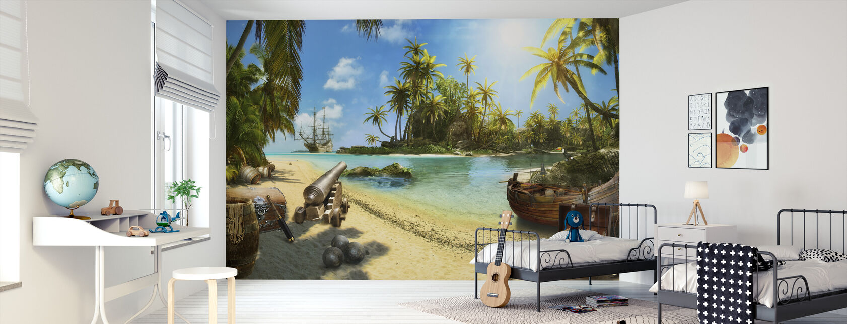 Pirate Island - Wallpaper - Kids Room