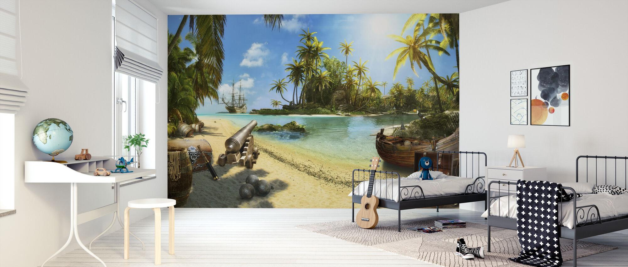 Pirateneiland - Behang - Kinderkamer