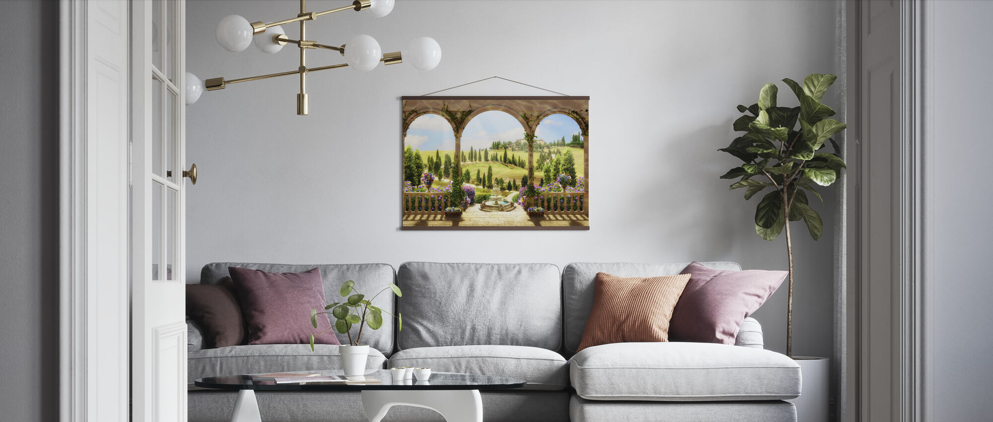 Lovely Countryside Road - Poster - Living Room