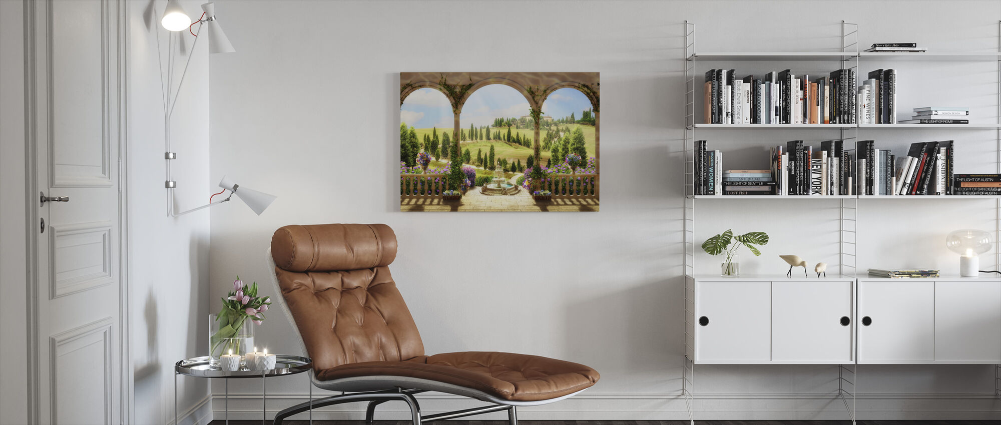 Mooie Platteland Road - Canvas print - Woonkamer
