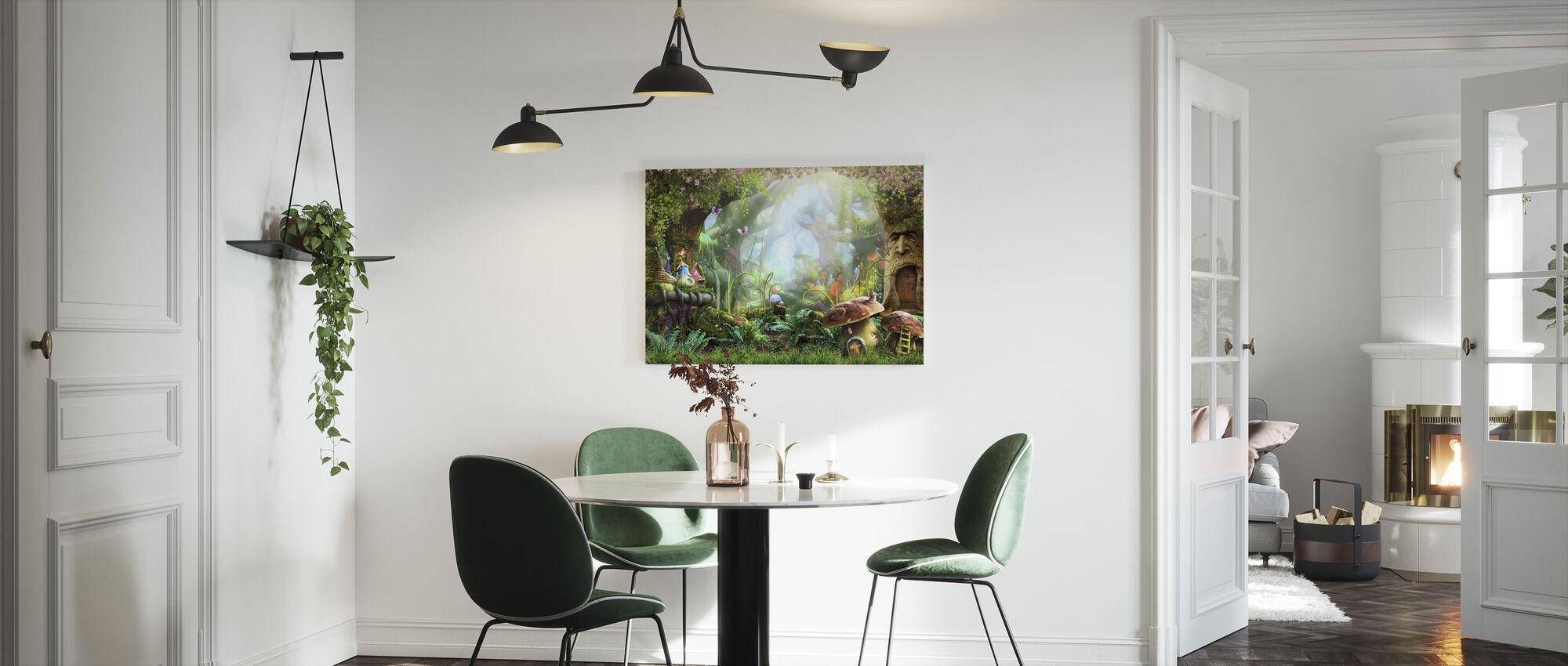 Fortryllet skog - Lerretsbilde - Kjøkken