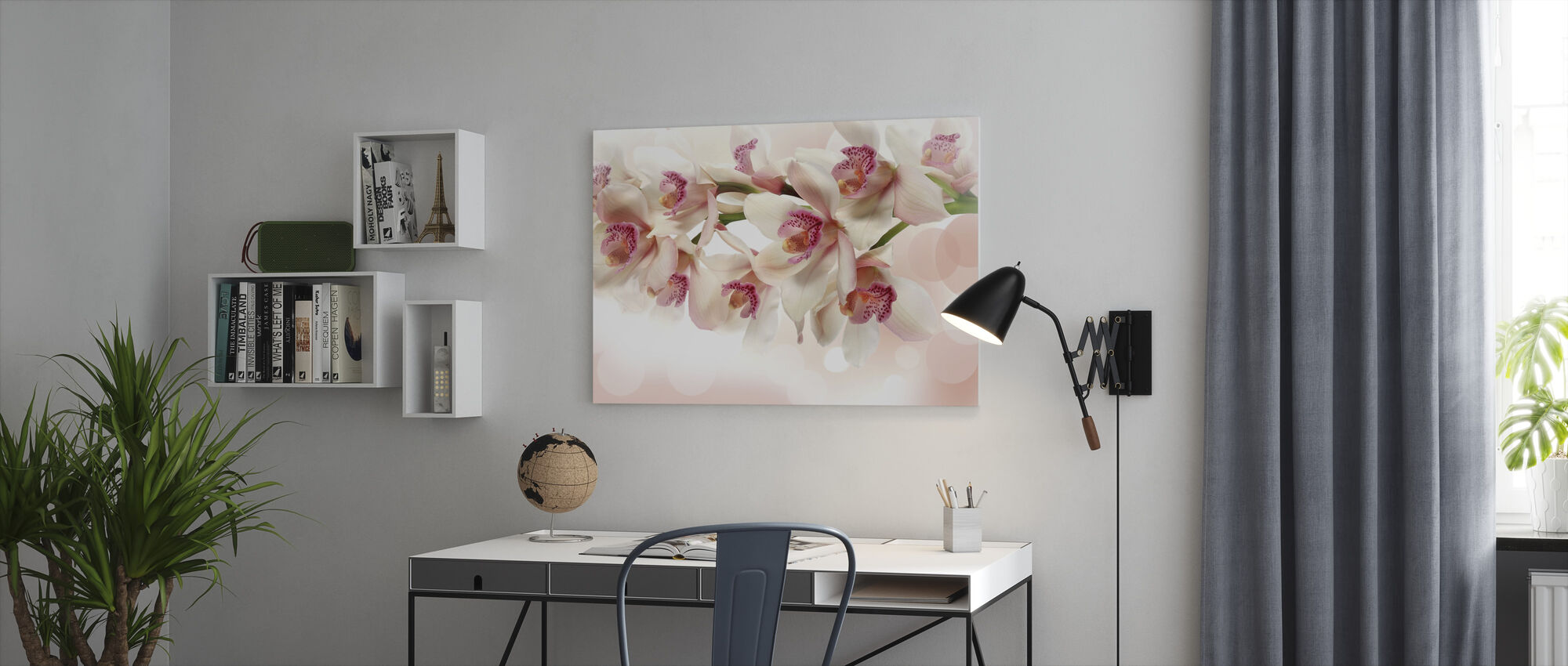 Pink Orchid - Canvas print - Office