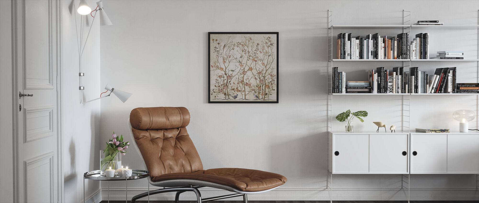 Pink Rose Bush - Framed print - Living Room