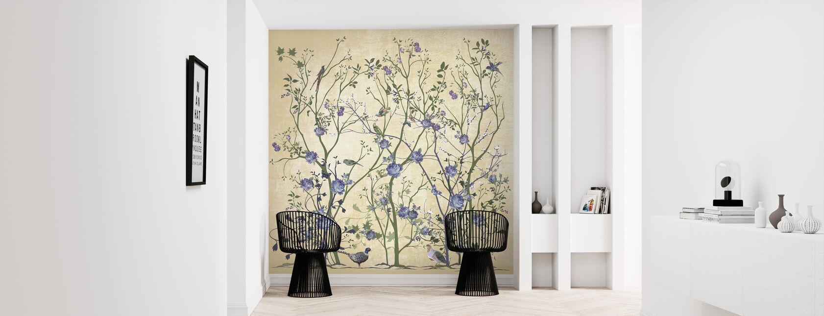 Blue Rose Bush - Wallpaper - Hallway