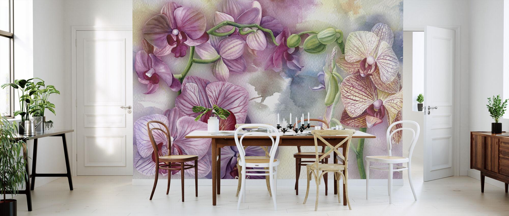 Purple Orchid - Wallpaper - Kitchen