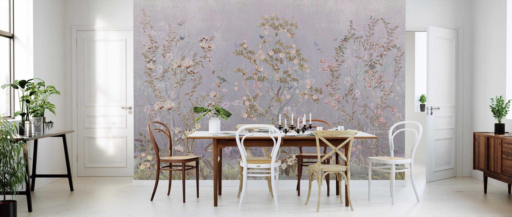 Lovely Flower Bush - Wallpaper - Kitchen