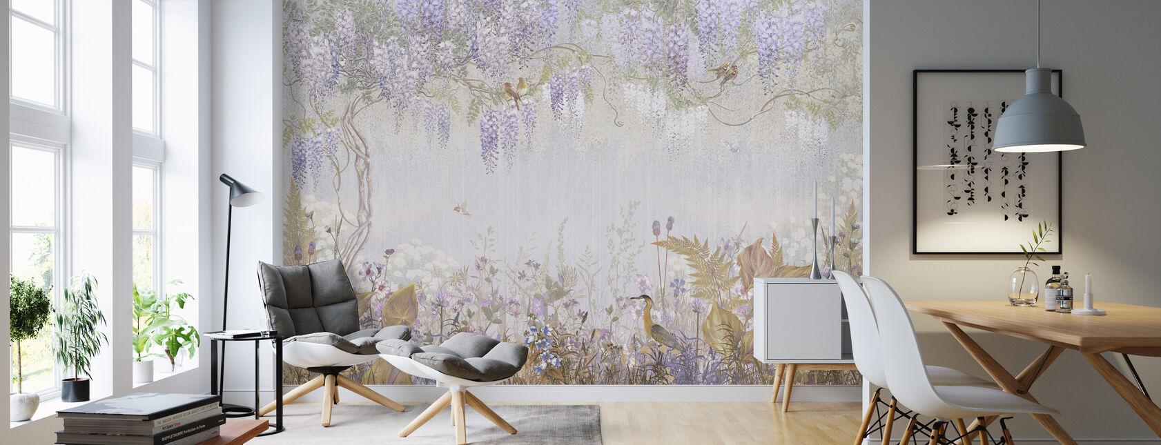 Purple Misty Forest - Wallpaper - Living Room