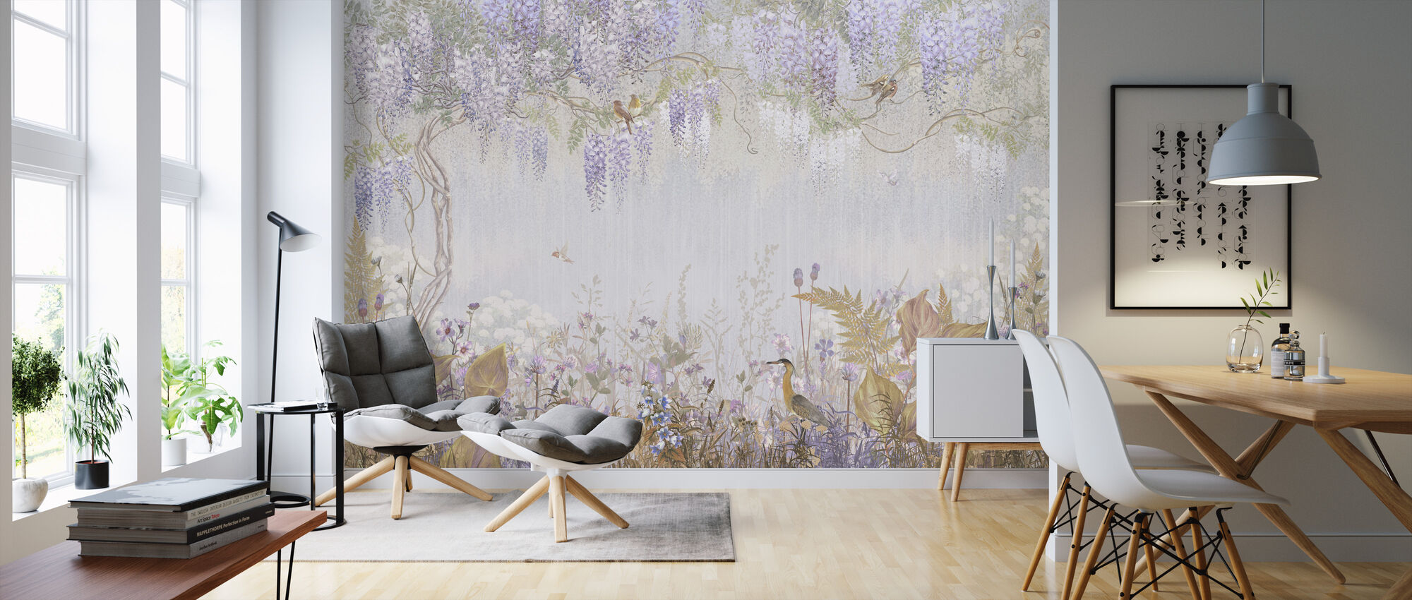 Purple Misty Forest - Wallpaper - Living Room