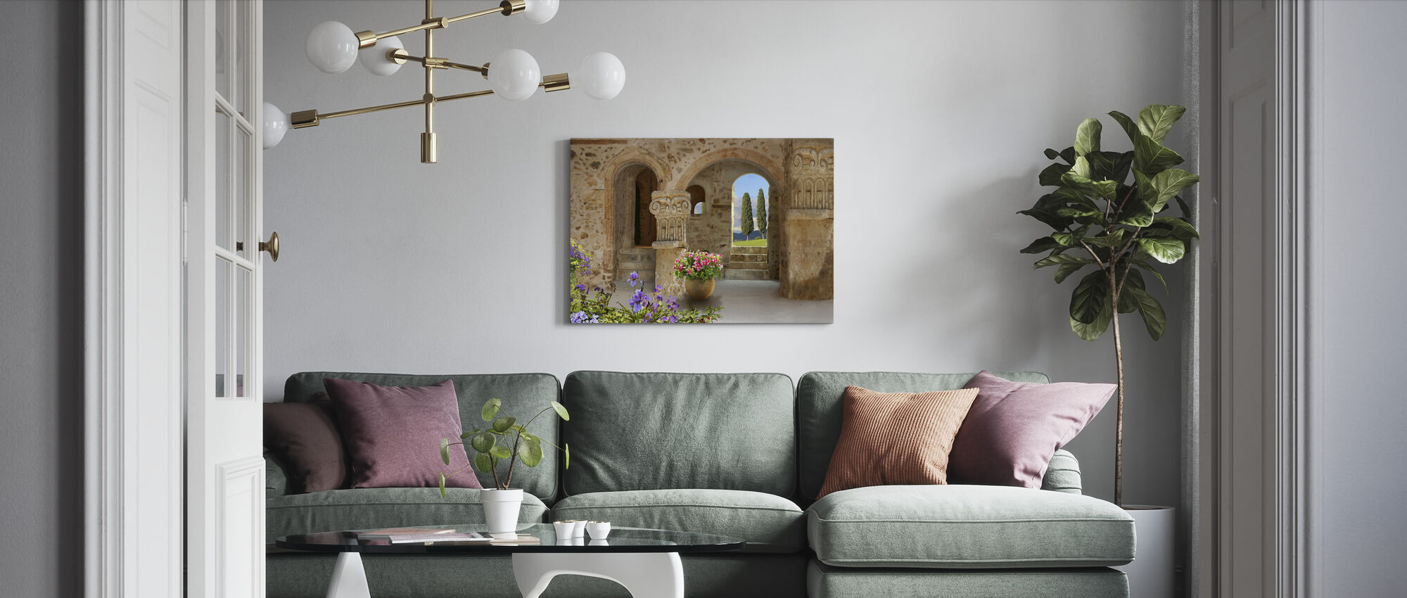 Old Stone Port - Canvas print - Living Room