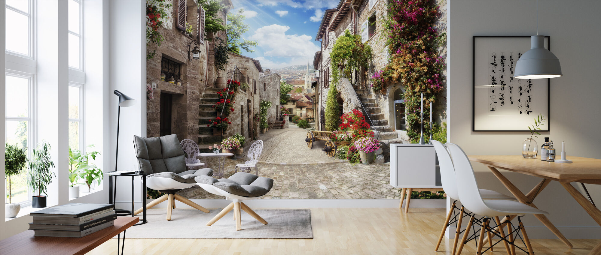 Romantic Alley - Wallpaper - Living Room