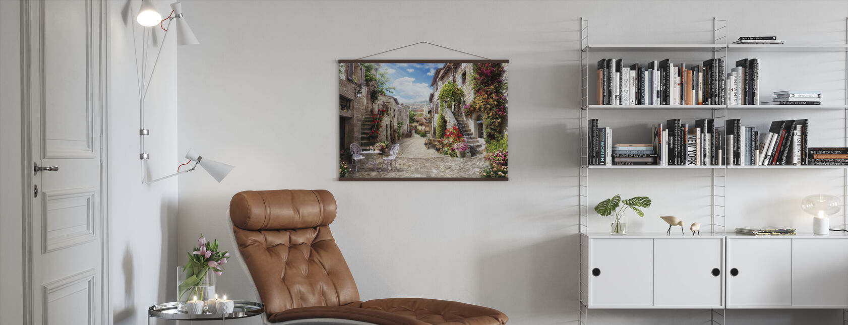 Romantisch steegje - Poster - Woonkamer
