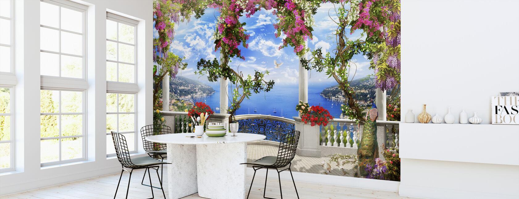 Splendida vista sulla baia - Carta da parati - Cucina