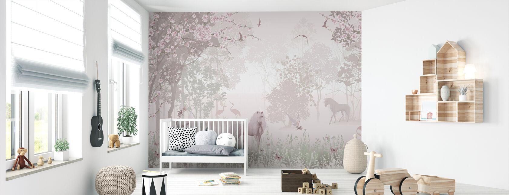 Unicorns in Dreamy Forest - Wallpaper - Nursery