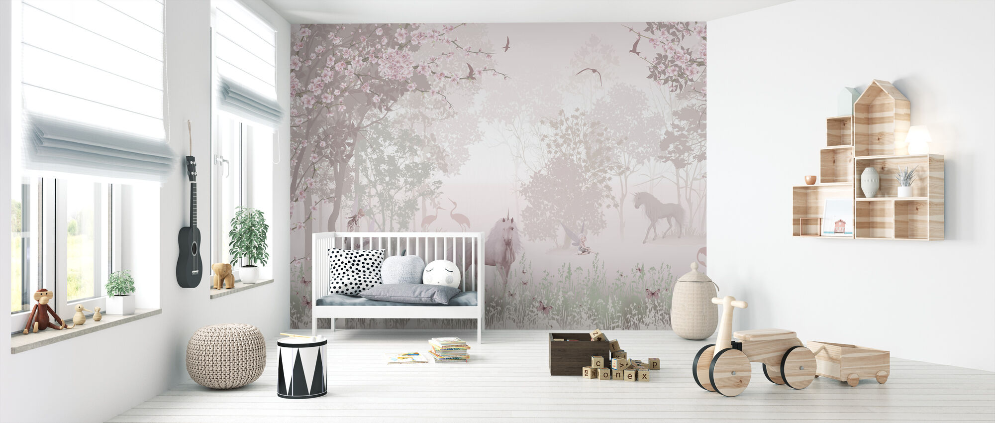 Unicorns in Dreamy Forest - Wallpaper - Nursery