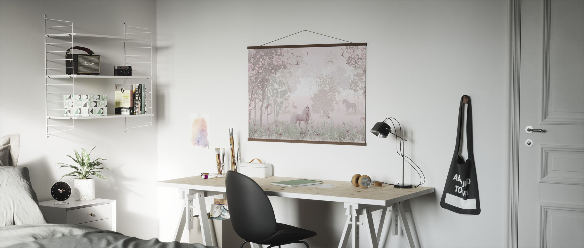 Unicorns in Dreamy Forest - Poster - Office