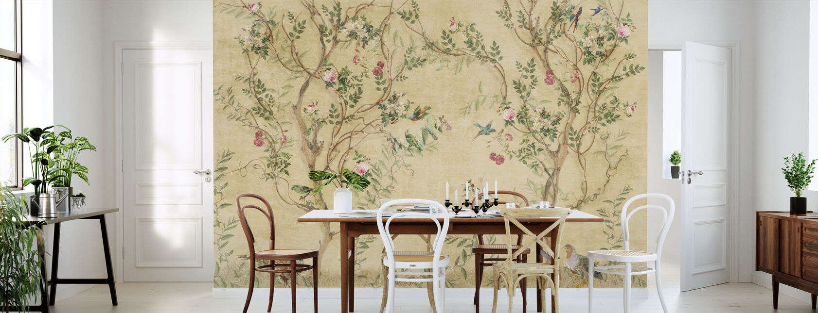 Pretty Birds in Branches - Wallpaper - Kitchen